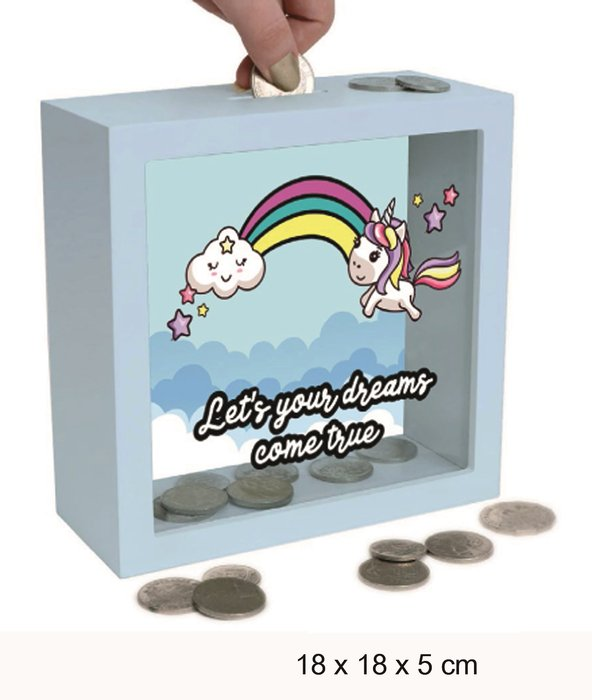 Hucha madera let is your dreams...unicorn