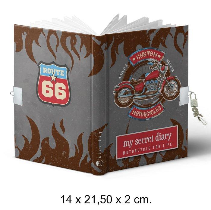 Diario tamaÑo a5 candado motorcycle for life