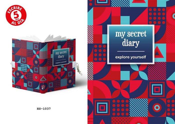 Diario tamaño a5 candado explore yourself