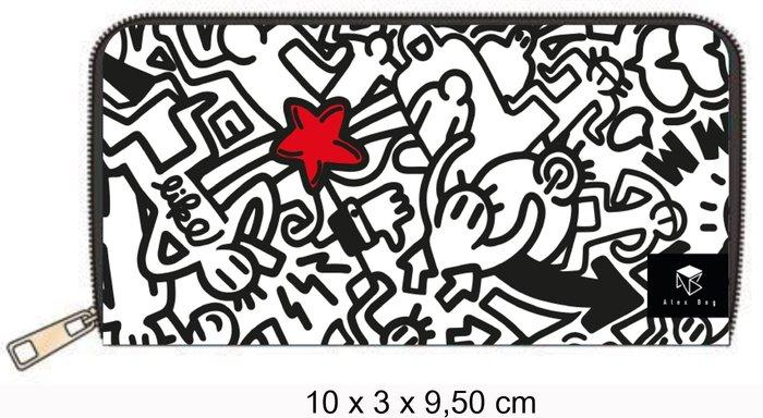 Billetero largo doodle