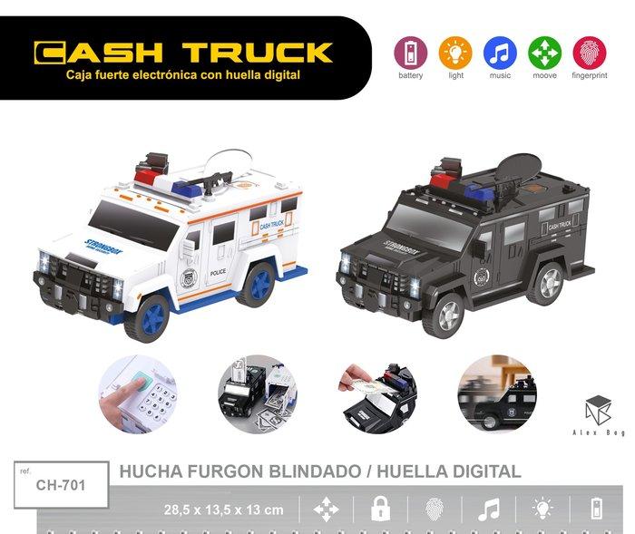 Hucha furgon blindado con huella digital surtida