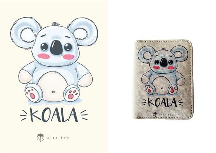 Billetero mediano con cremallera koala