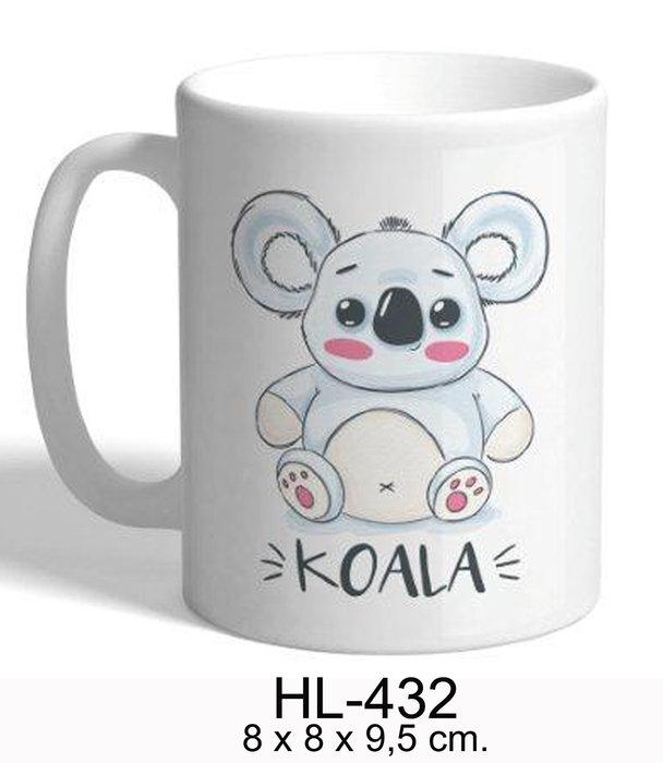 Taza porcelana koala
