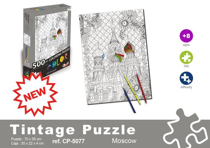 Puzzle 500 piezas rusia + rotuladores