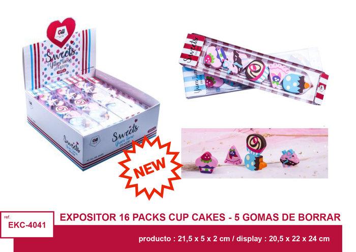 Sets 5 piezas gomas sweet candys 16 unidades