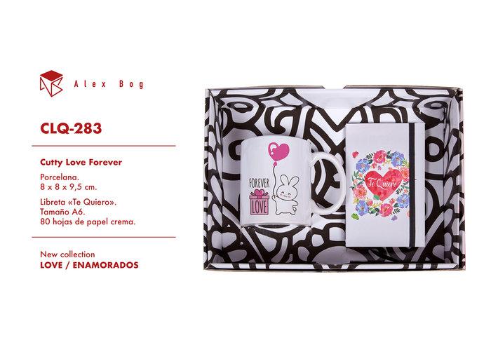 Conjunto libreta y taza love,forever love