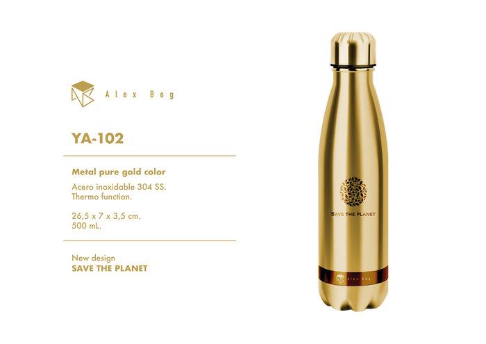 Botella acero inox 500 ml. pure gold color