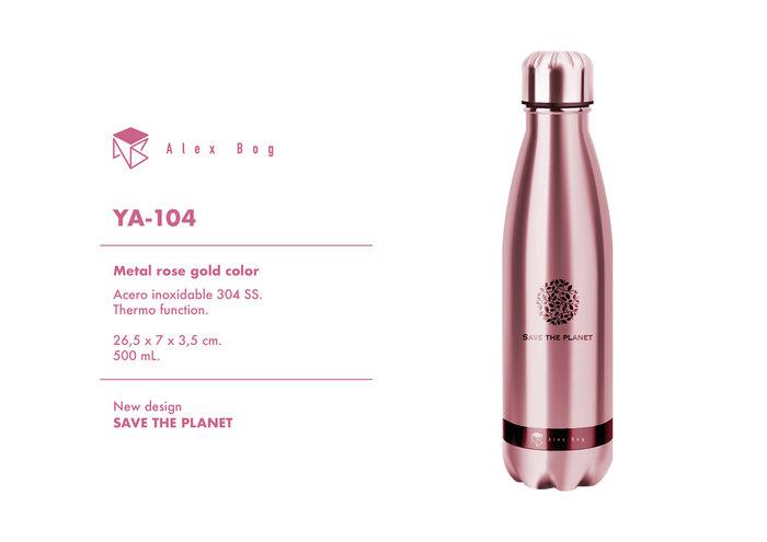 Botella acero inox 500 ml. rose gold color