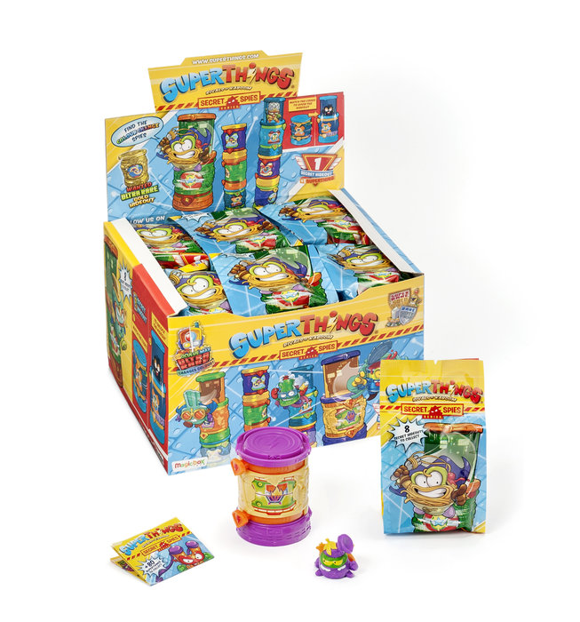 Superzings serie vi display 12 uds secret spies hideout