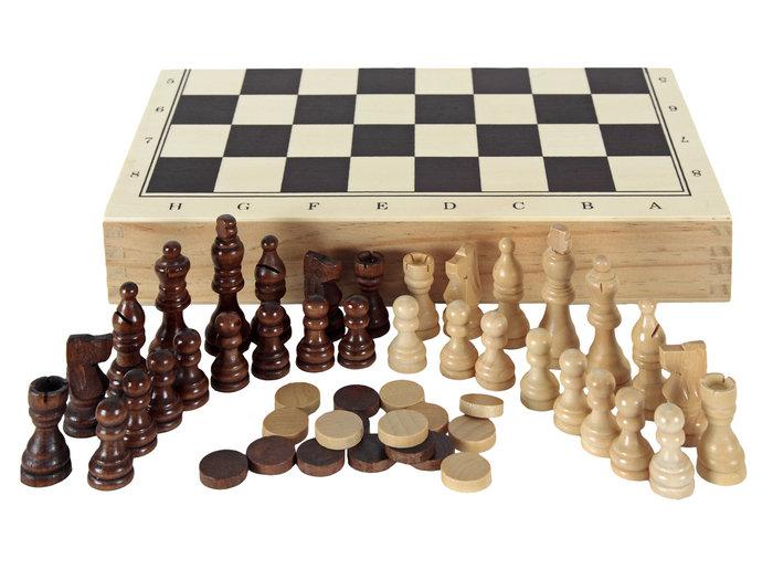 Juego estuche ajedrez damas backgammon