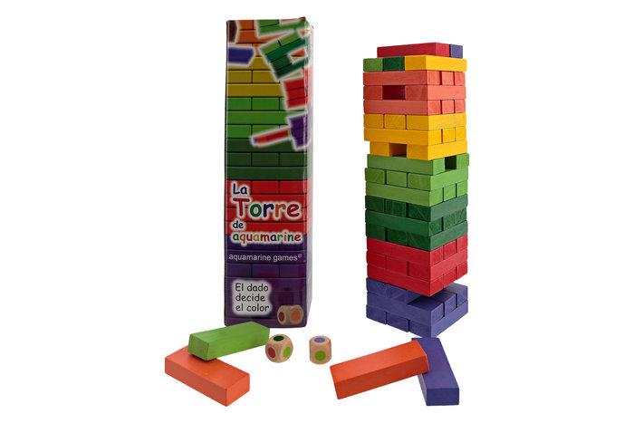 Juego la torre tamaño colores travel