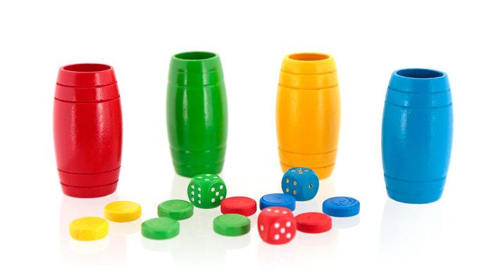 Juego accesorios oca parchis en madera 4 jugadores