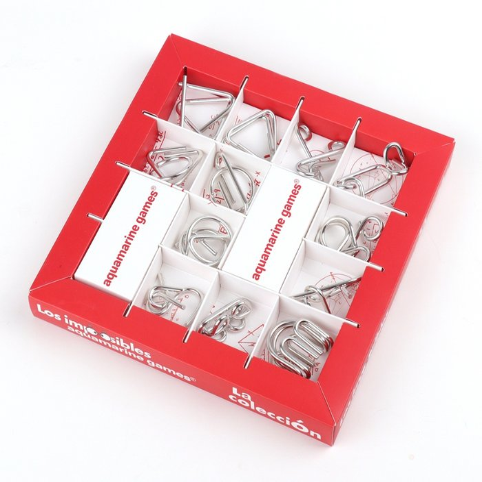Juegos de mesa imposibles metal aquamarine coleccion 12 uds