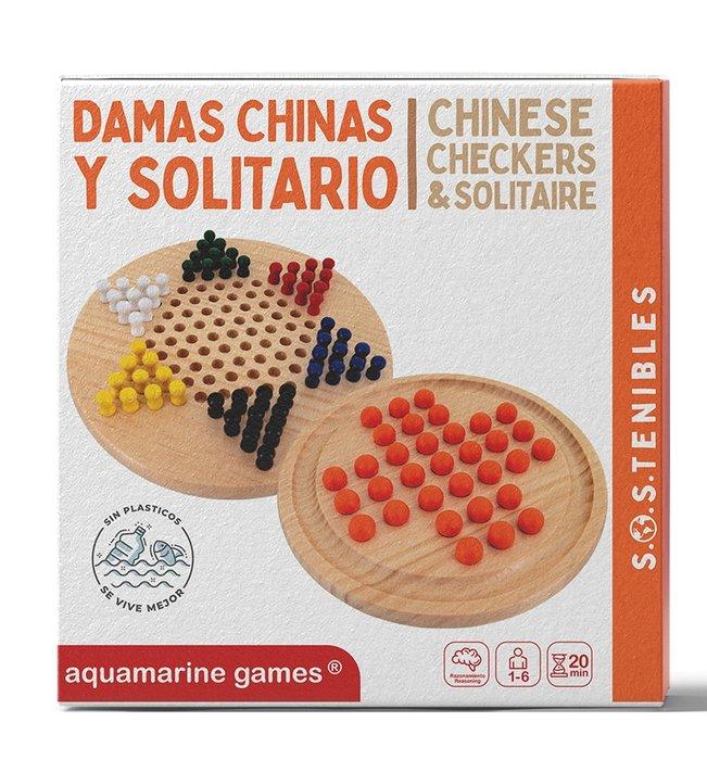 Juego damas chinas y solitario