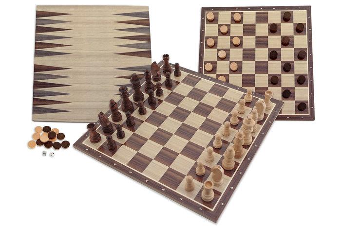 Juego ajedrez damas backgammon