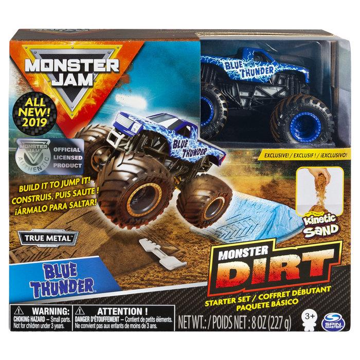 Vehiculo monster jam kinetic dirt starter set