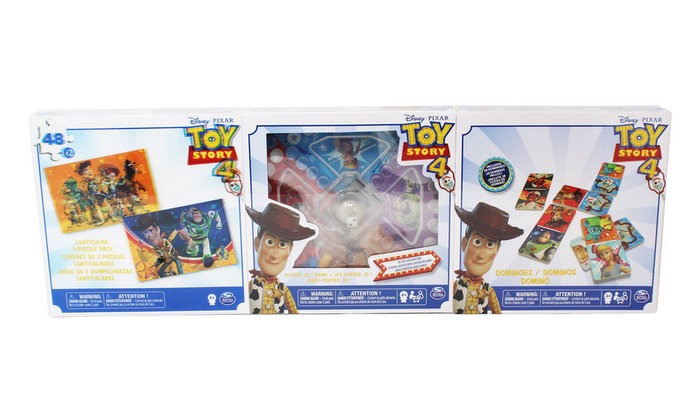 Pack 3 juegos puzzle 3d cartas y parchis toy story