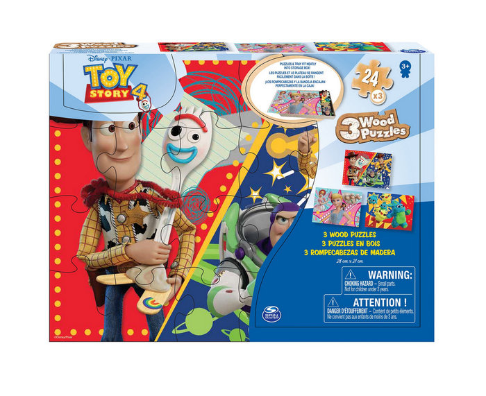 Puzle madera toy story 4 pack 3 uds