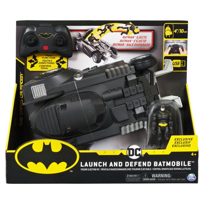 Batmovil radio control lanza y defiende