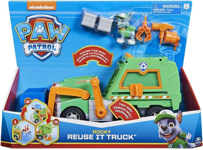 Paw patrol camion reciclaje rocky