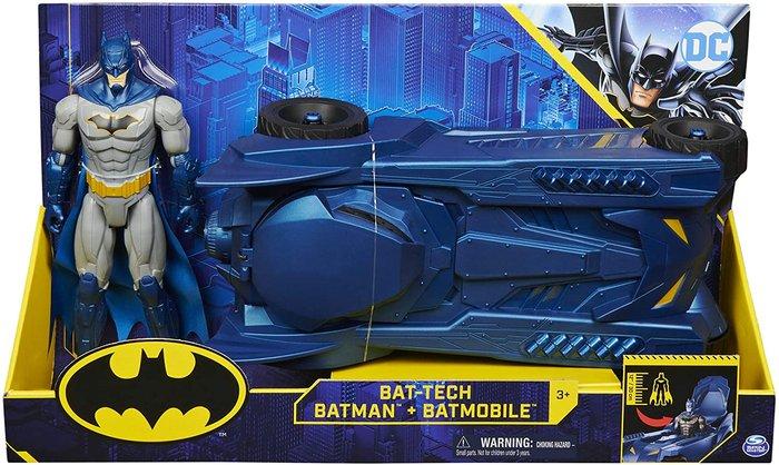 Batman batmobil + muÑeco 30cm