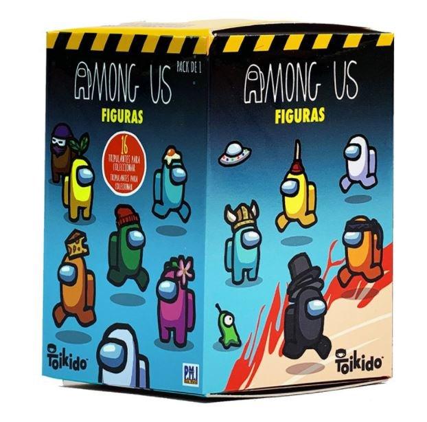 Among us - pack 1  en caja sorpresa expositor 24 uds