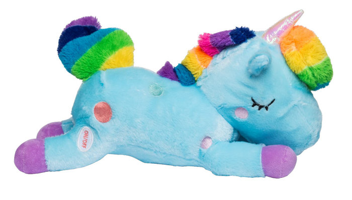 Peluche unicornio con luz nuevo 2 colores surtidos