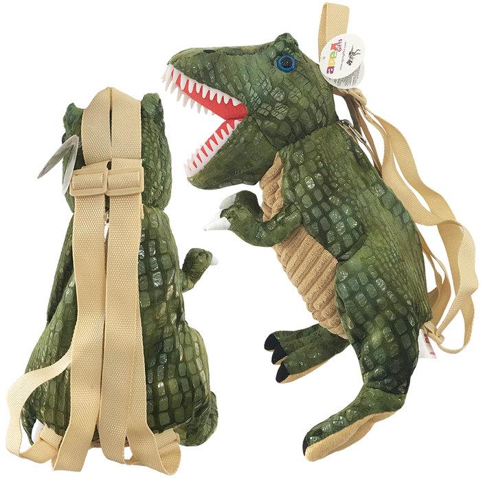 Mochila infantil dinosaurio verde
