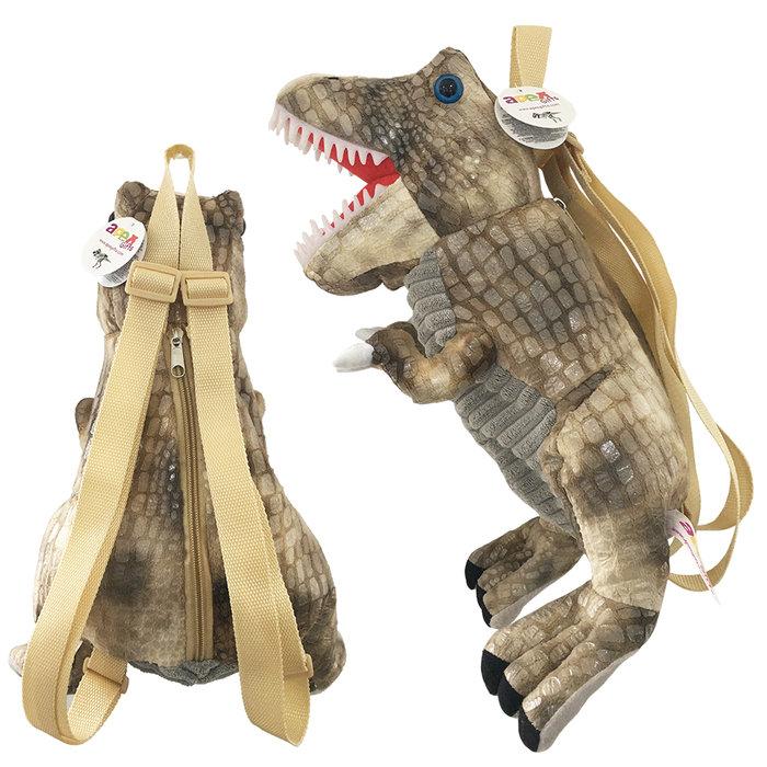 Mochila infantil dinosaurio marron