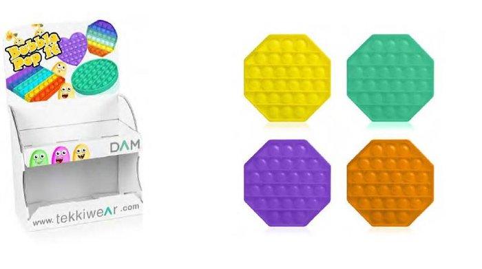 Expositor pop it octogonal colores surtidos 36 unidades