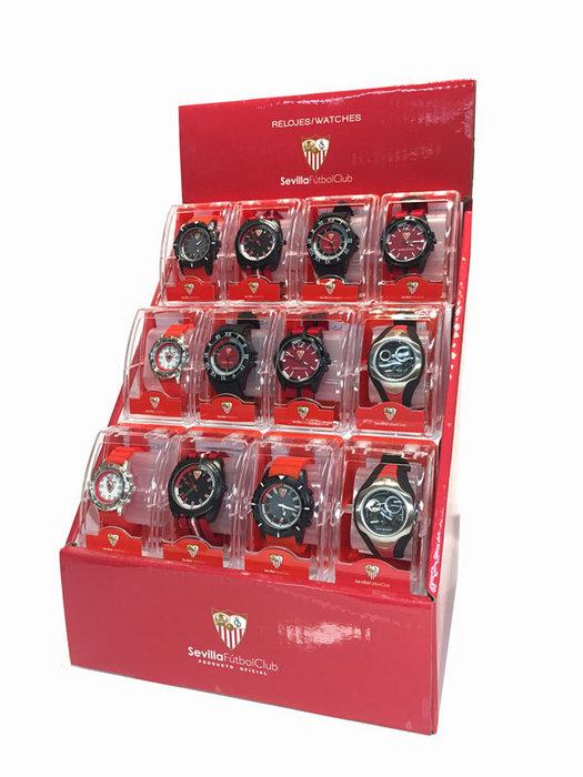 Expositor 12 relojes sevilla fc