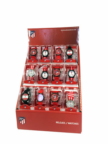 Expositor 12 relojes atletico madrid