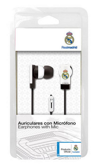 Auricular boton con micro real madrid blanco ref 9106012