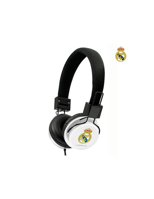 Auricular casco real madrid blanco y negro ref 9106020