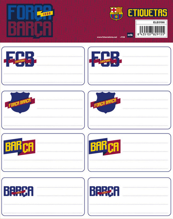 Etiqueta barcelona ele0196