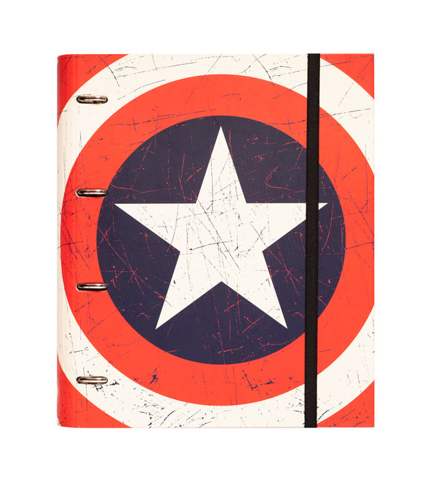 Carpeta 4a 35mm troquelada marvel capitan america