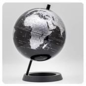 Esfera 20cm negro metalizado soporte plastico