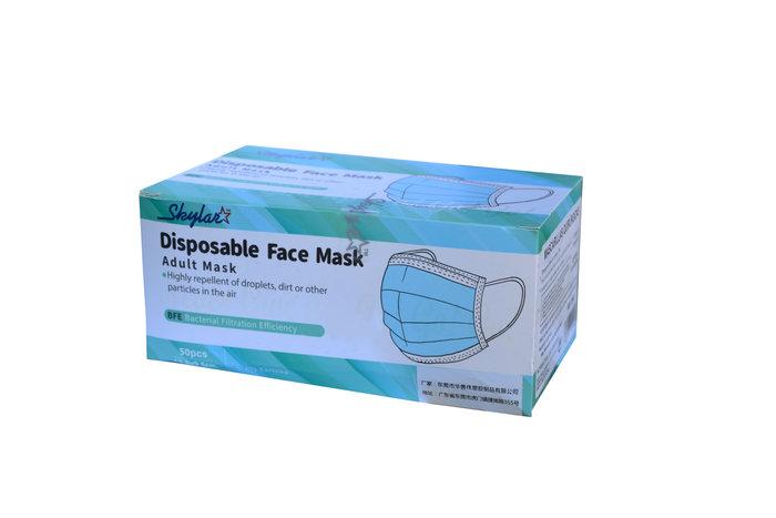 Mascarilla higienica azul caja 50u