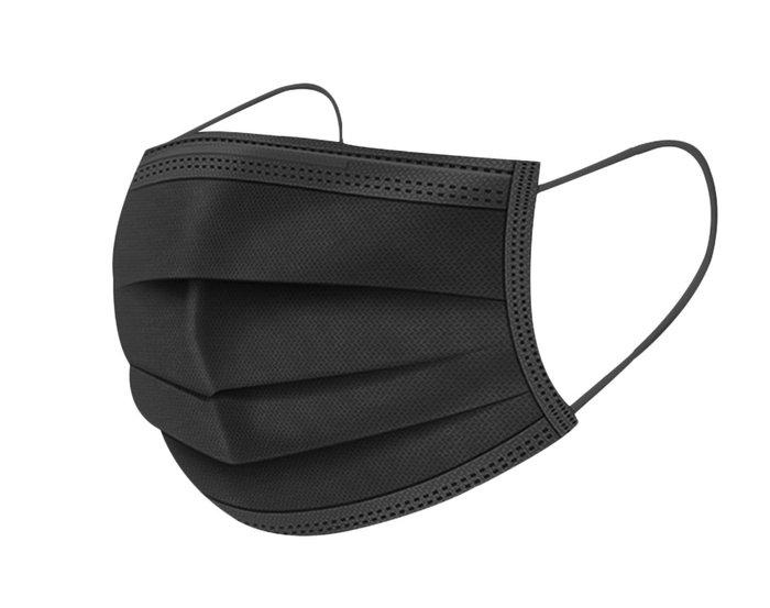 Mascarilla higienica negra en bolsa individual 50u