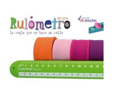 Regla 30cm rulometro colores surtidos