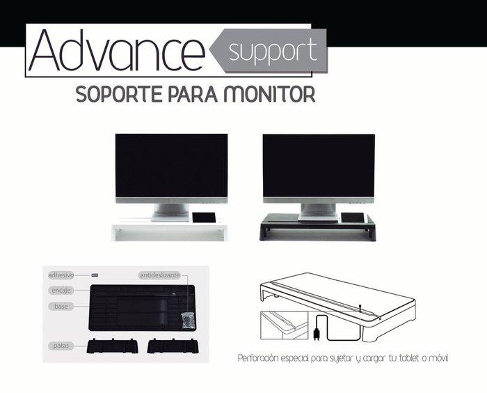 Soporte monitor advance support blanco
