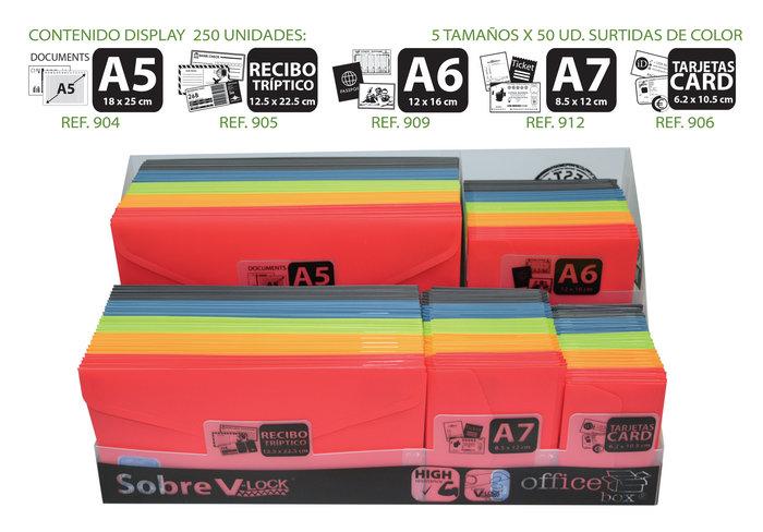 Display 250 sobres vital colors surtidos