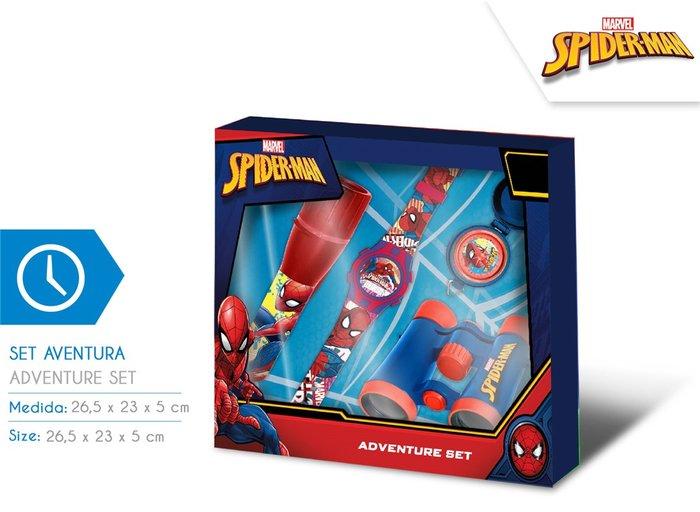 Set aventura + reloj spiderman