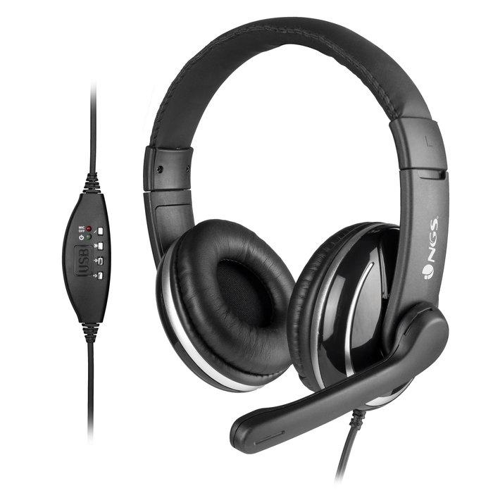 Auricular de diadema con conexion usb para pc con microfono