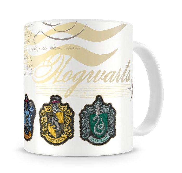 Taza ceramica escudos casas hogwarts harry potter