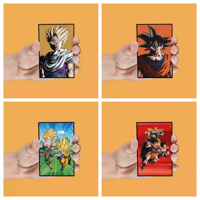 Set 4 imanes lenticulares personajes dragon ball z