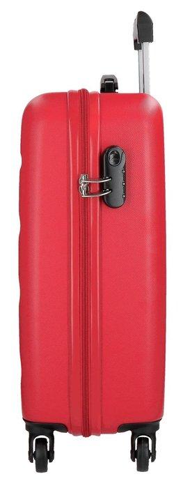 Juego de dos maletas rigidas 55-65cm roll road flex rojo