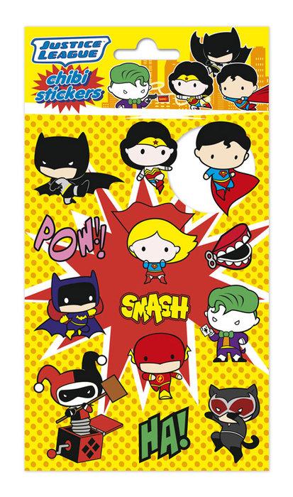 Set stickers dc comics chibi