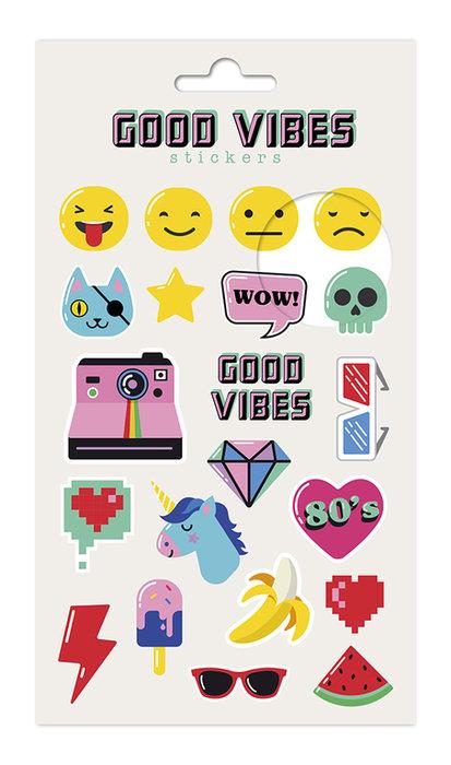 Set stickers good vibes
