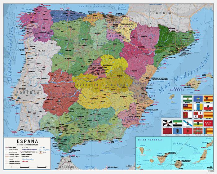 Mini poster mapa de espana